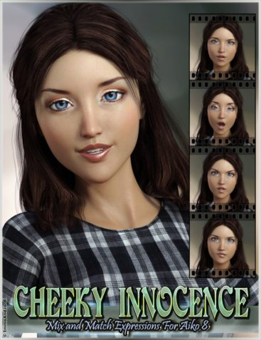 Cheeky Innocence Mix and Match Expressions for Aiko 8 and Genesis 8 Female(s)