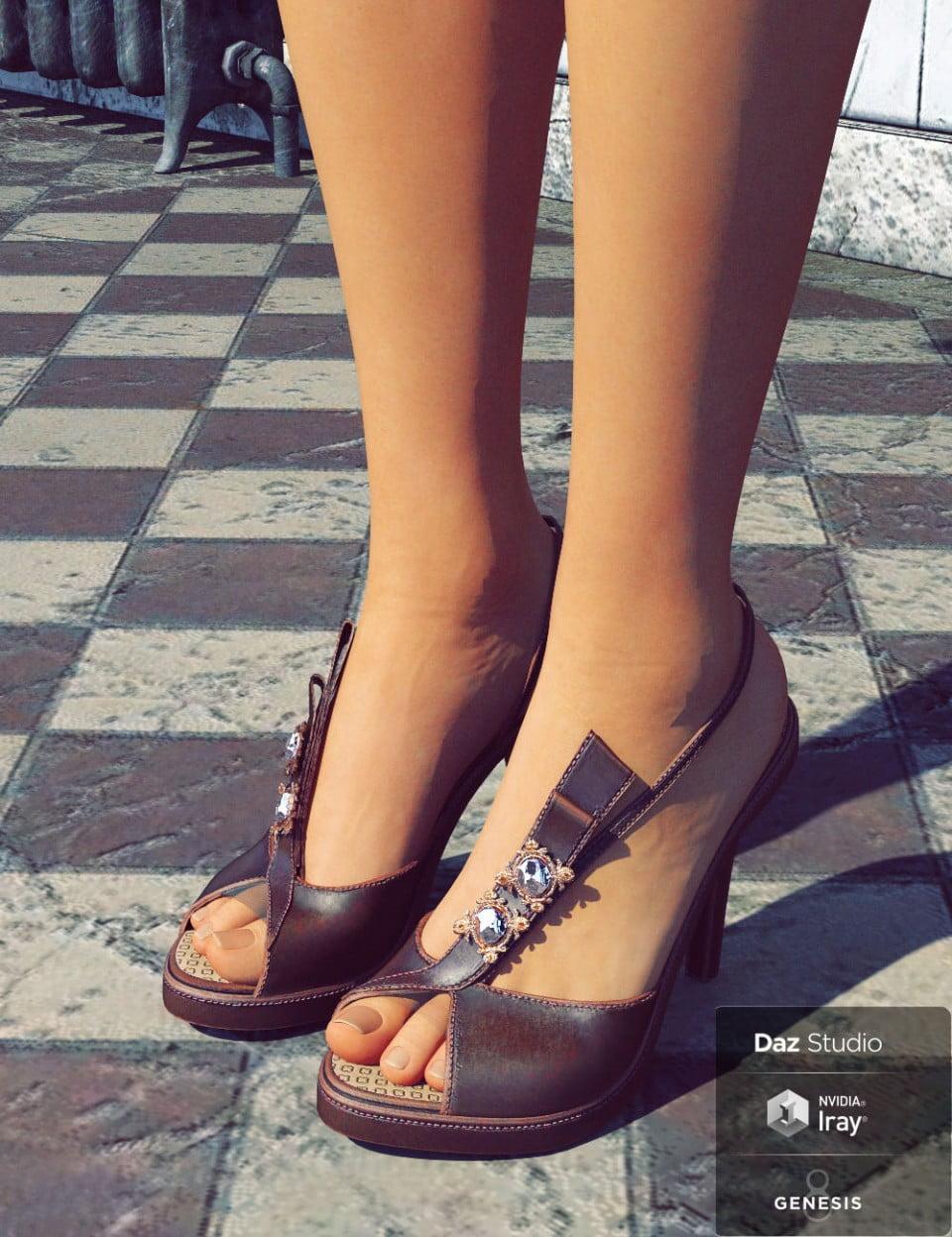 RB Strap Sandal for Genesis 8 Females