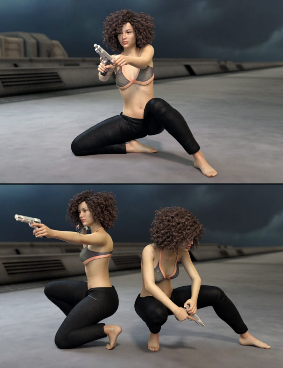 Spy Girl Poses for Genesis 8 Female and Victoria 8