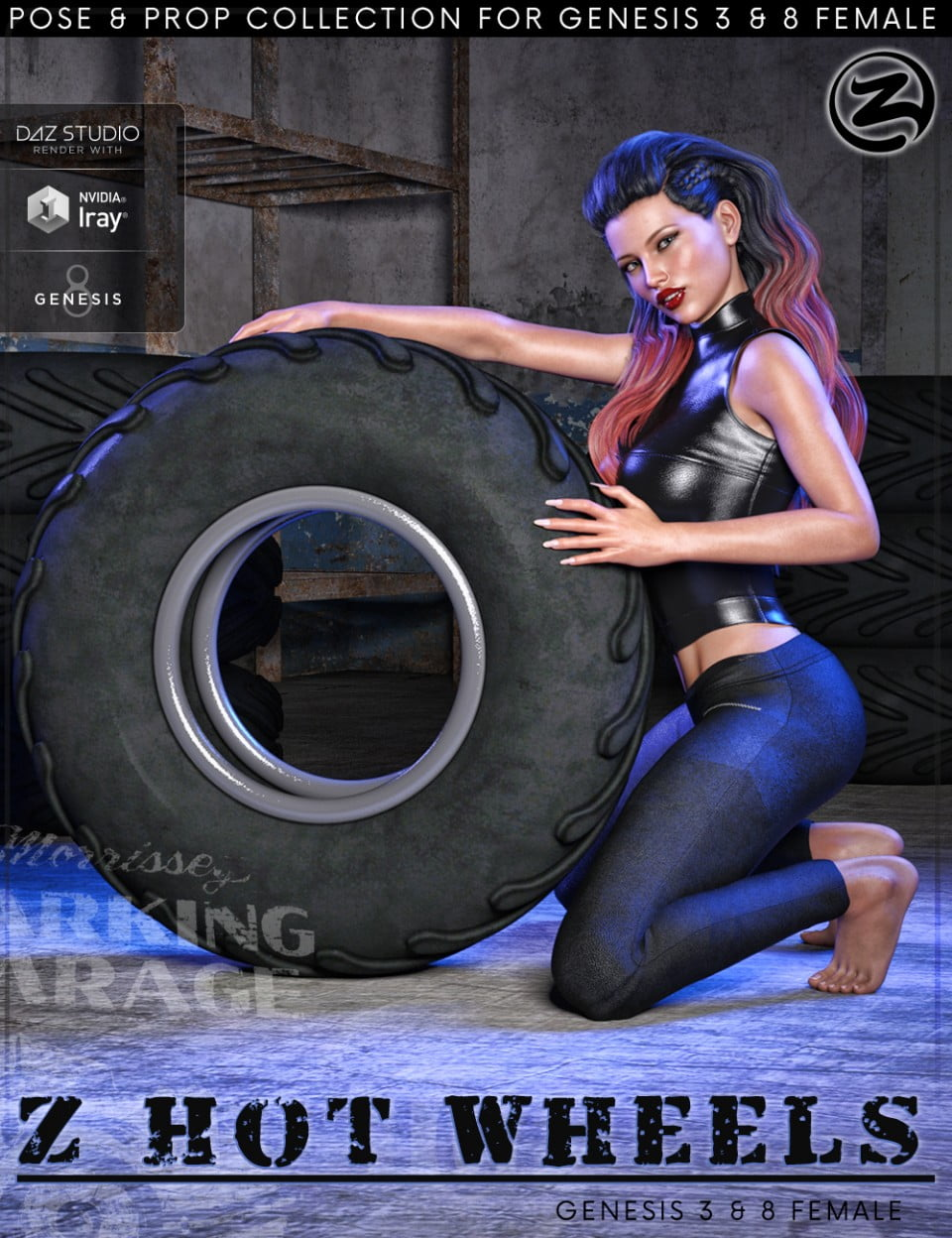 Z Hot Wheels – Props and Poses for Genesis 3 and 8 Female