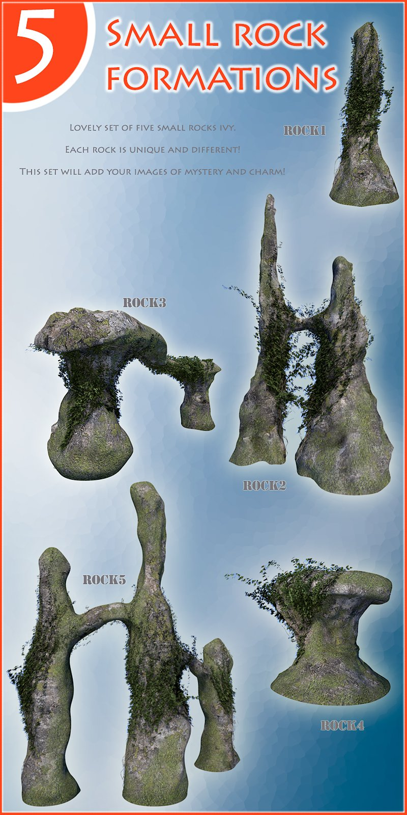 Small rock formations