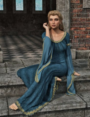 dForce Camilla Medieval Gown for Genesis 8 Female(s)