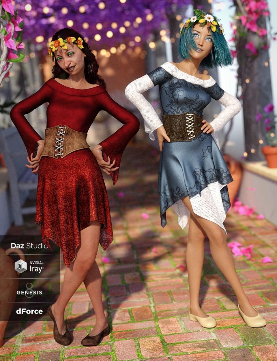 dForce Woodland Spirit Outfit Textures