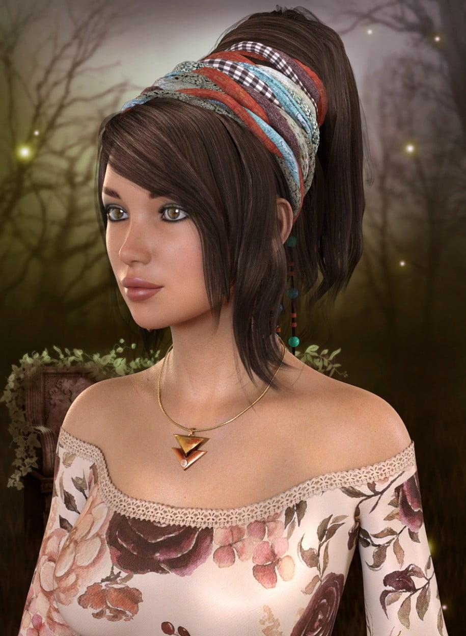 Boho Hair for Genesis 3 and 8 Female(s)
