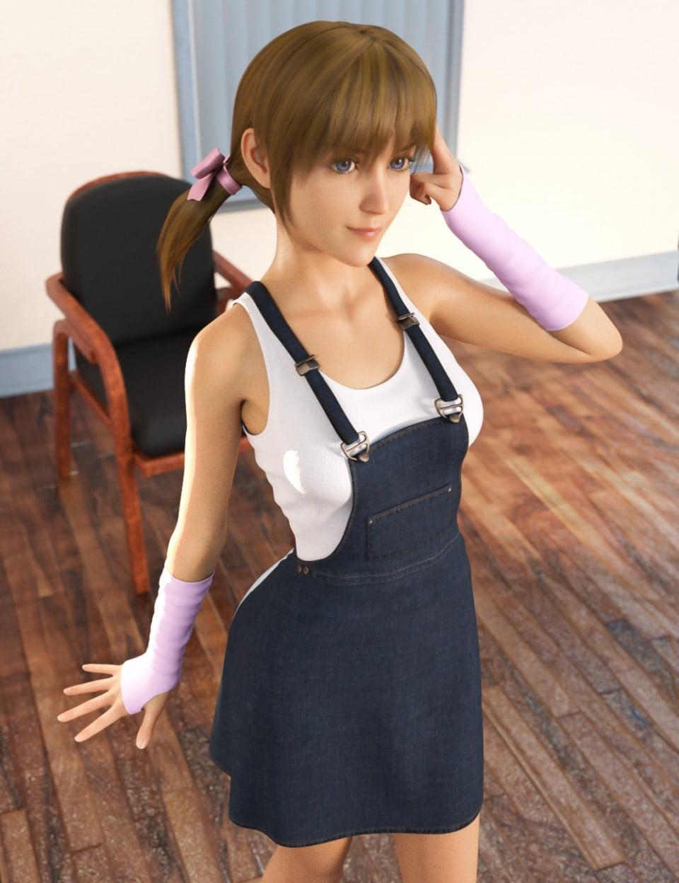 dForce Denim Skirt for Genesis 8 Female(s)