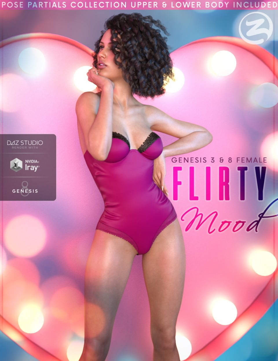 Z Flirty Mood – Poses and Partials for Genesis 3 and 8 Female