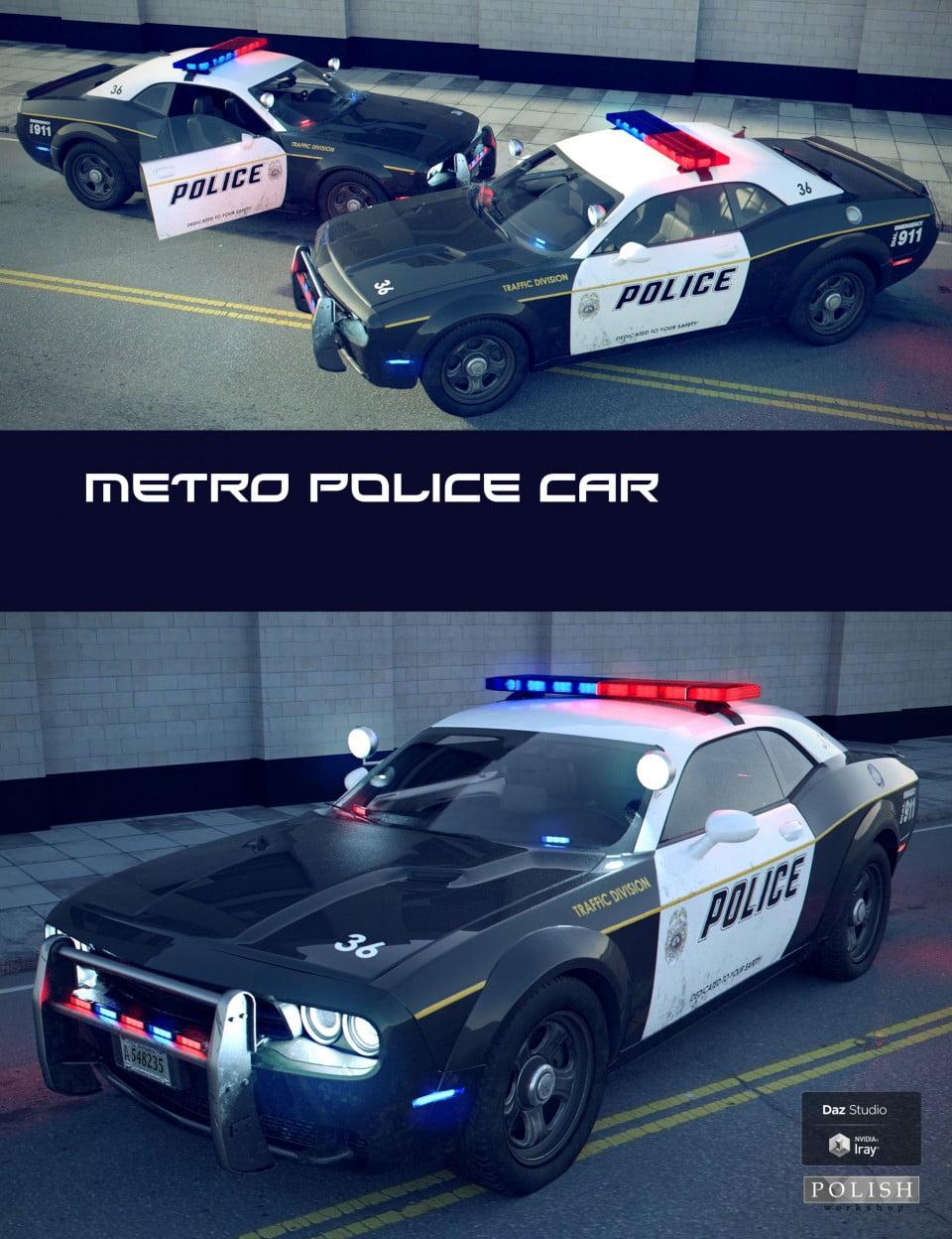 Metro Police Car - transport, daz-poser-carrara