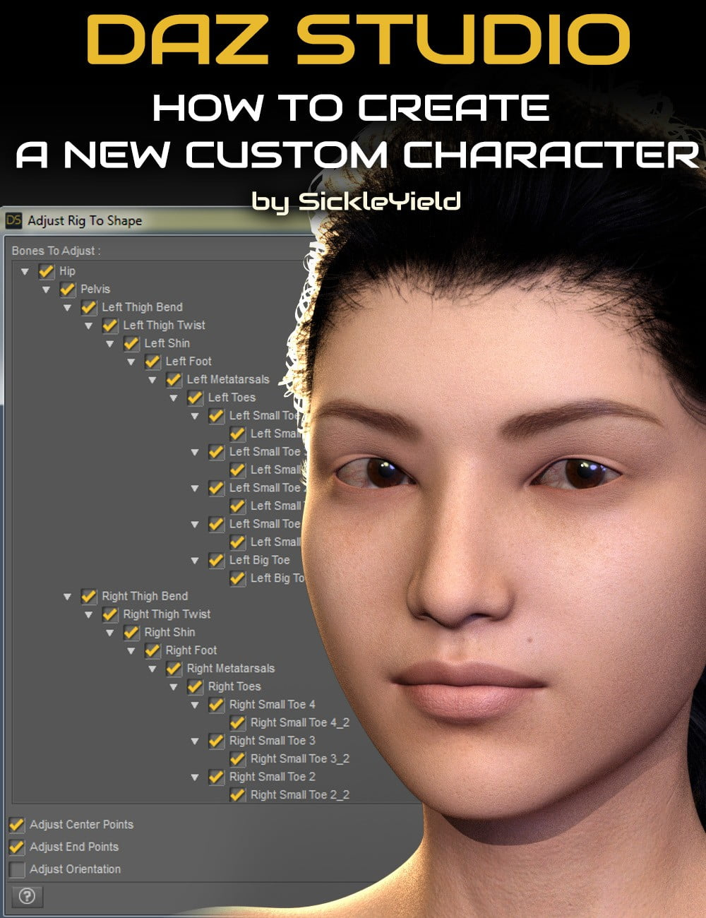 How to Create a New Custom Daz Studio Character
