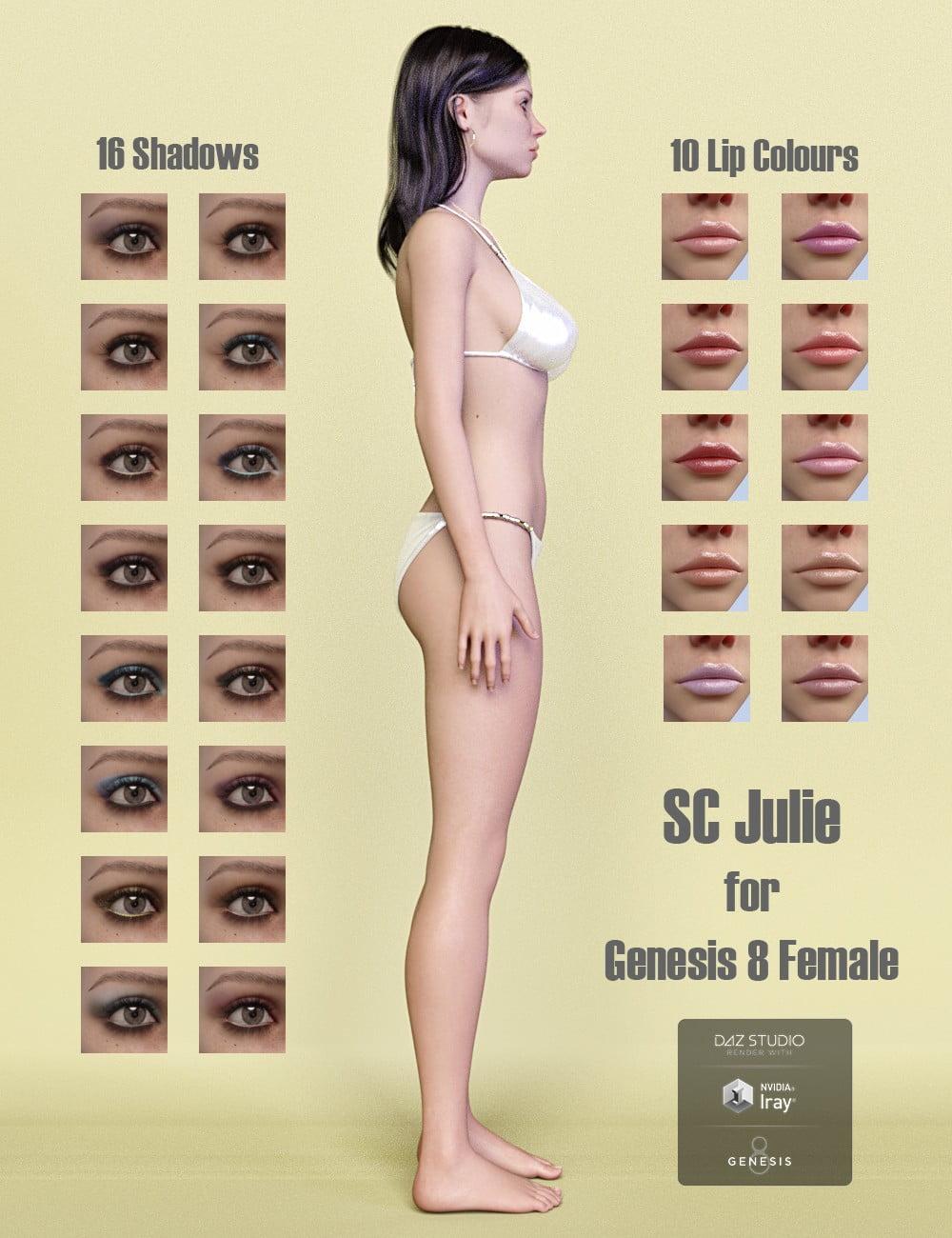 SC Julie HD for Genesis 8 Female - character, daz-poser-carrara