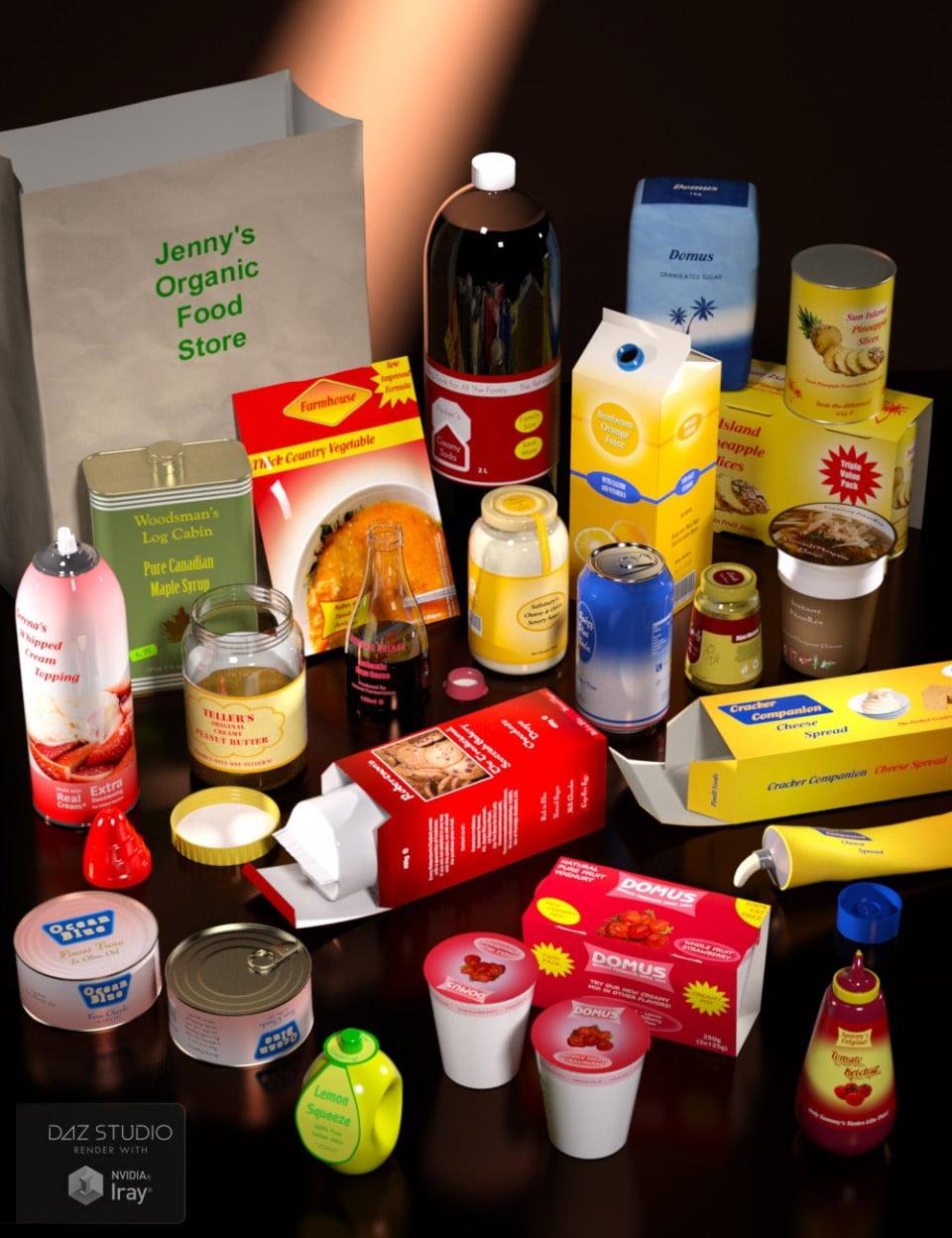 Everyday Groceries 2 - scenes-props, daz-poser-carrara