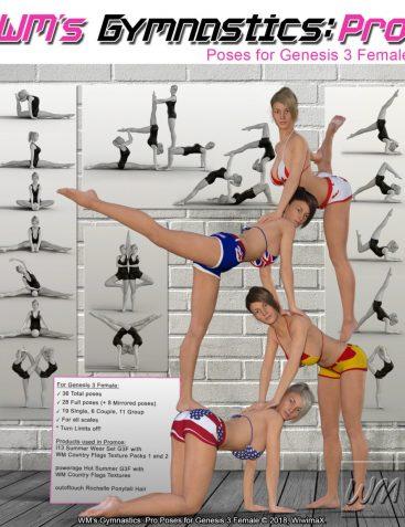 WM's Gymnastics: Pro Poses for Genesis 3 Female