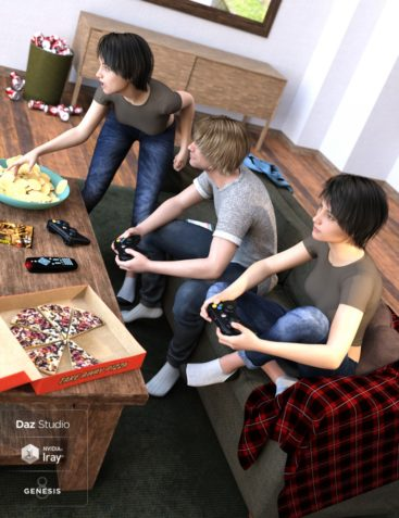 Couch Potato Poses for Genesis 8