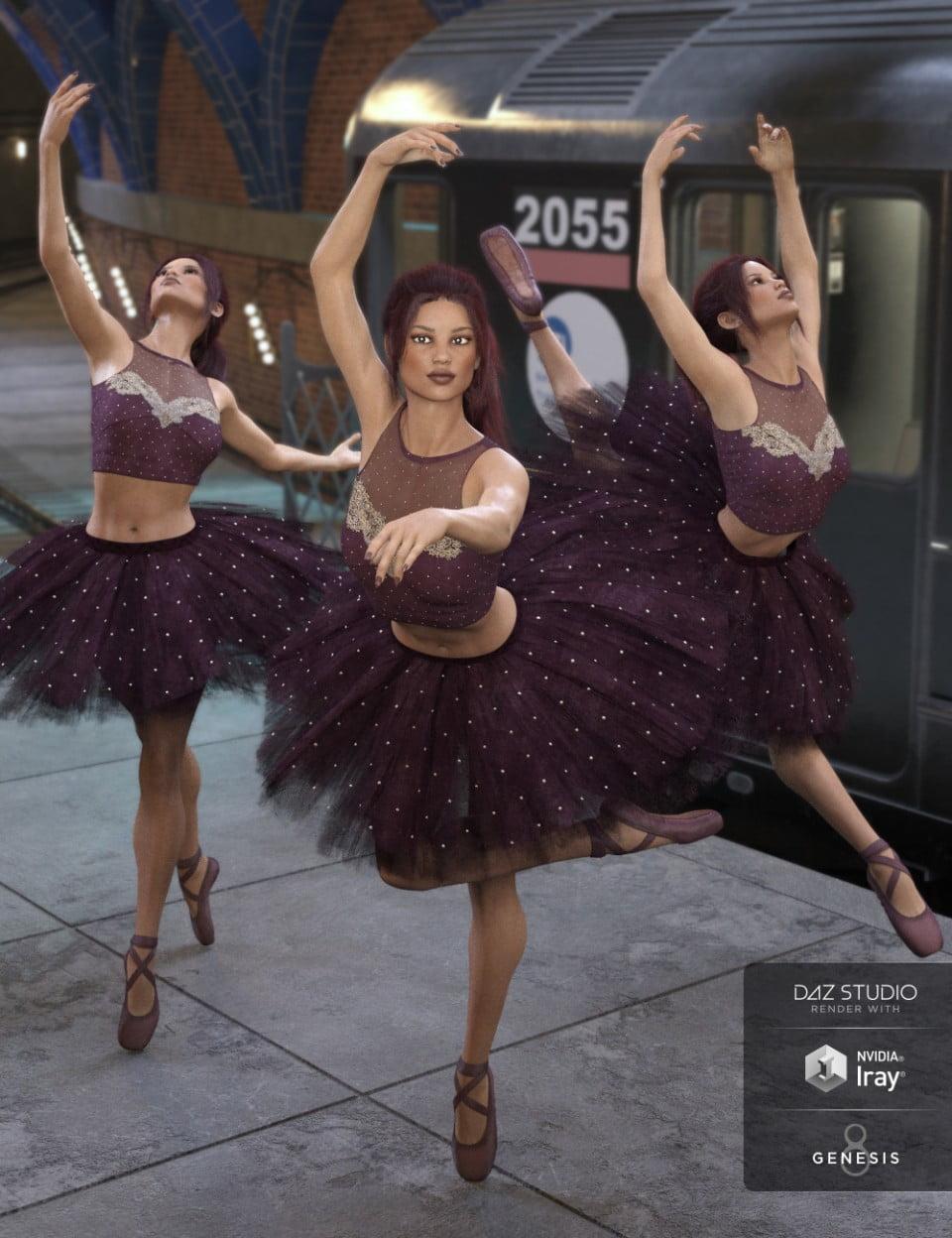 Capsces Ballet Poses for Genesis 8 Female(s)