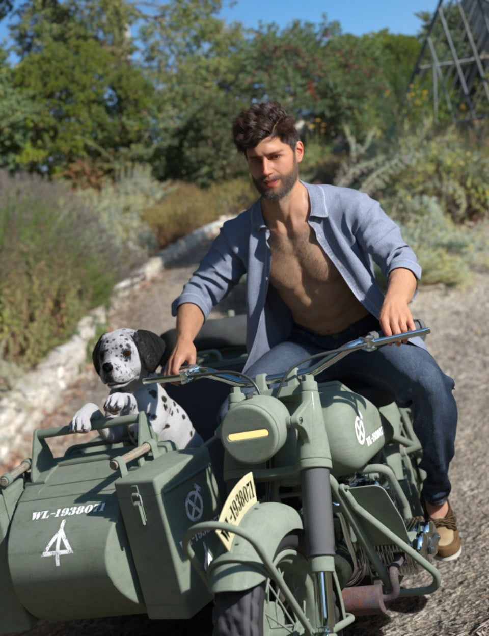 dForce My Guy Jeans and Shirt for Genesis 8 Male
