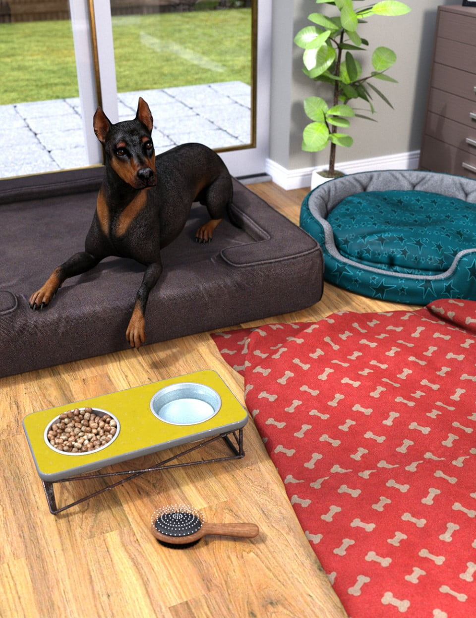 Home Sweet Home Props for DAZ Dog(s) 8 ⋆ 3d-stuff Community