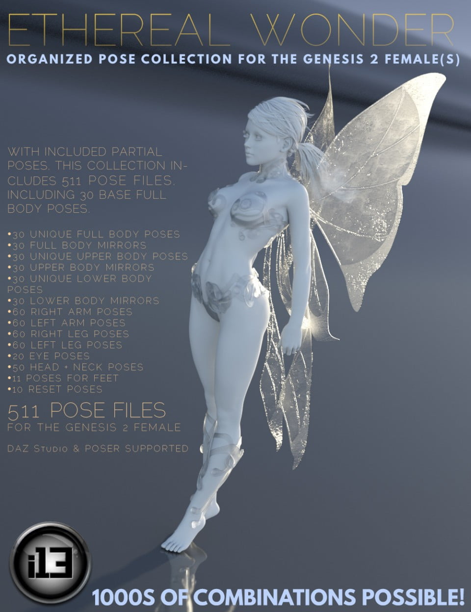 i13 Ethereal Wonder Pose Collection - poses, daz-poser-carrara