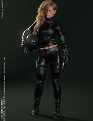 Chameleon ROse Biker Outfit for Chameleon ROse G8F