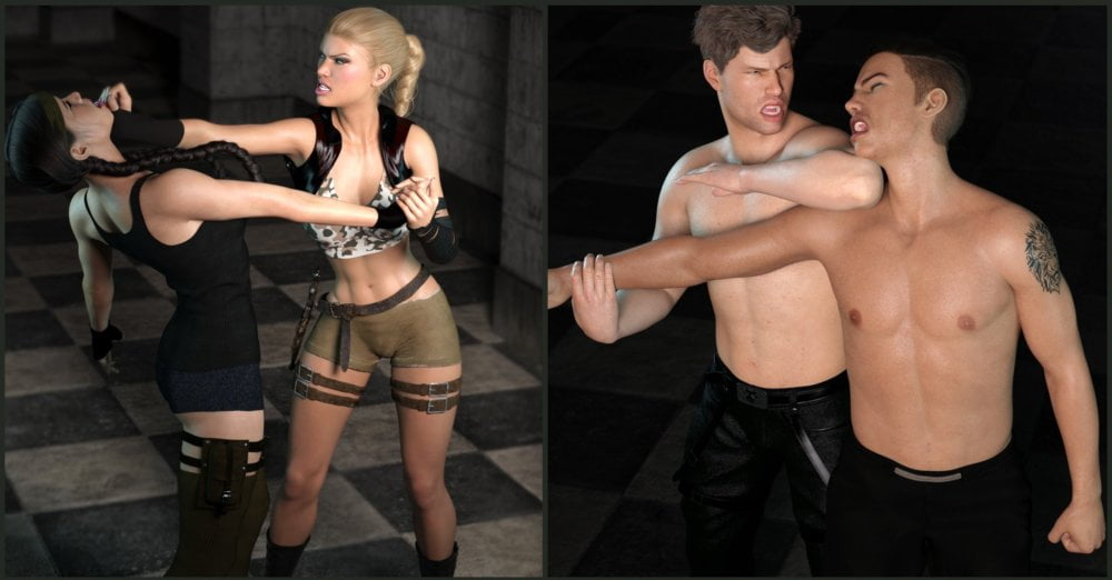 Z Fighting Series: Krav Maga - Combat Poses for Genesis 3 and 8 - poses, daz-poser-carrara