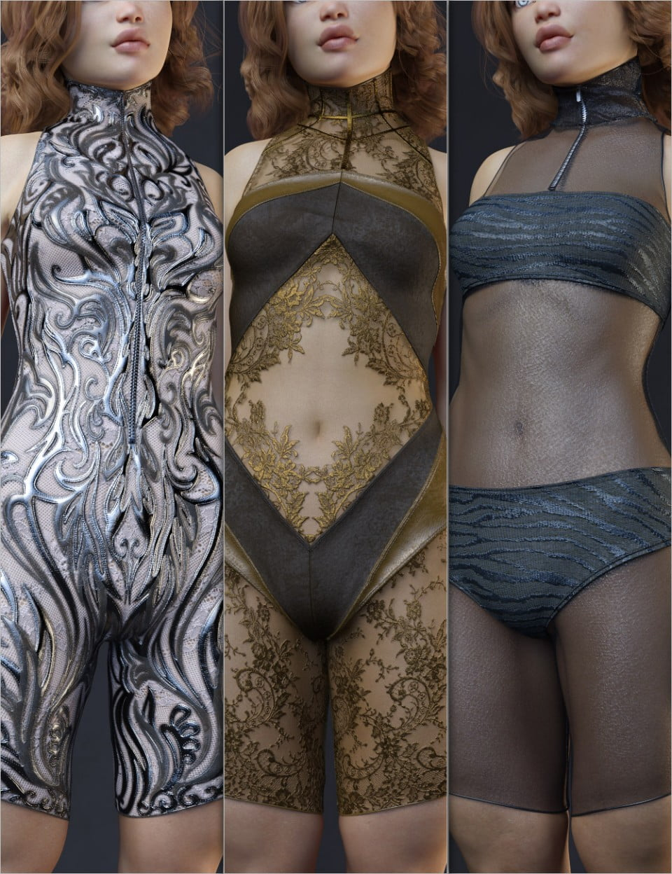 Helix Charm Outfit for Genesis 8 Female(s) - clothing, daz-poser-carrara