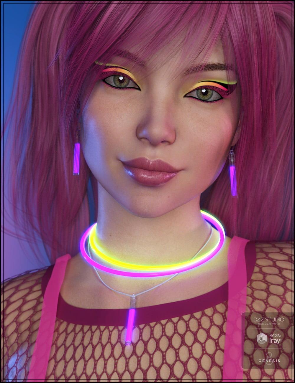 RAVE! Jewelry for Genesis 8 Female(s) - clothing, daz-poser-carrara