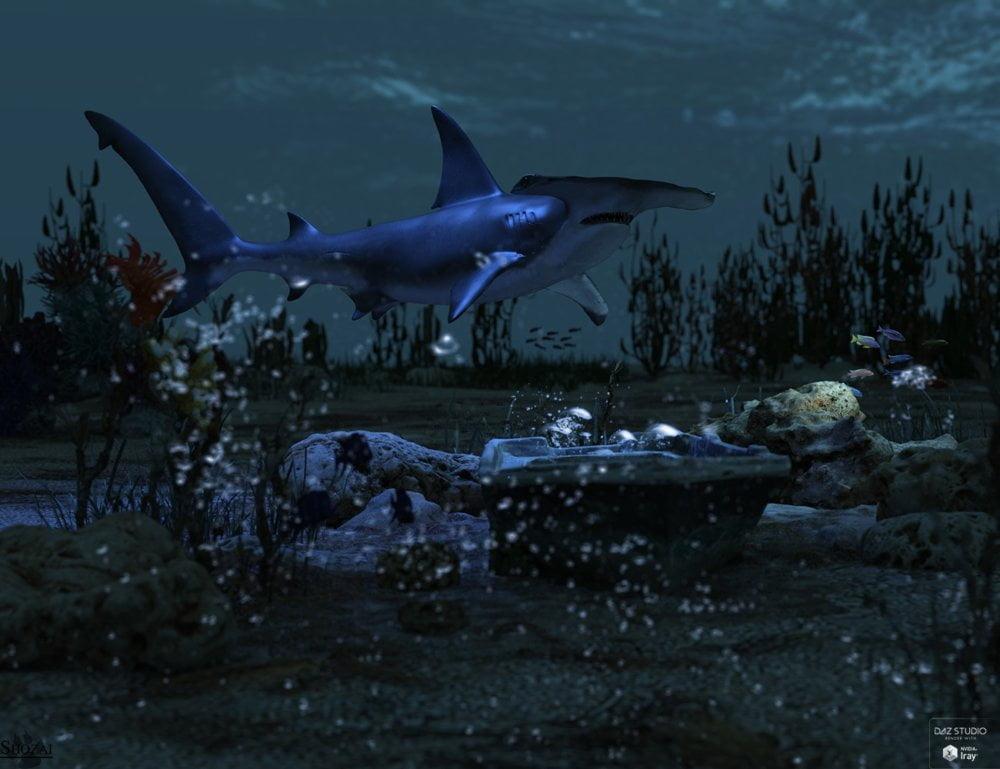 Sharks by AM: Hammerhead - animals, daz-poser-carrara