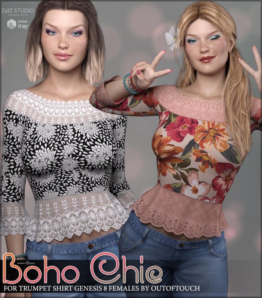 Boho Chic for Trumpet Shirt Genesis 8 Females