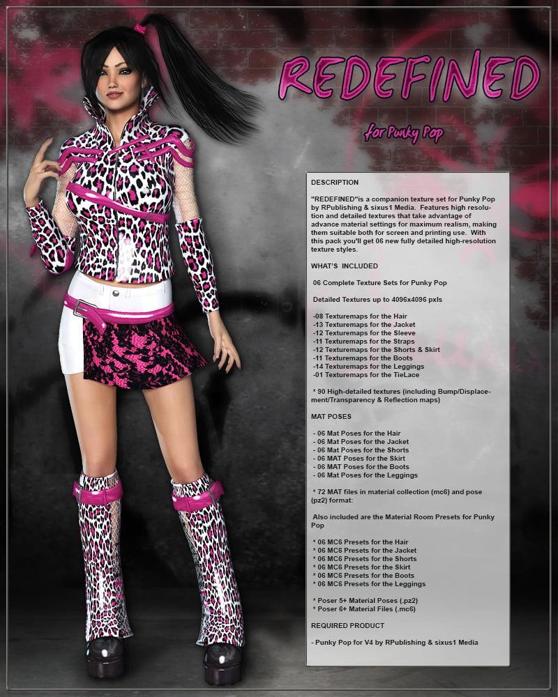REDEFINED for Punky Pop - clothing, daz-poser-carrara