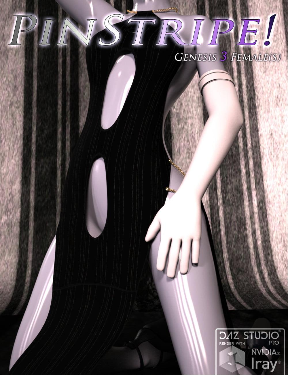 Pinstripe! for Genese 3 Females - clothing, daz-poser-carrara