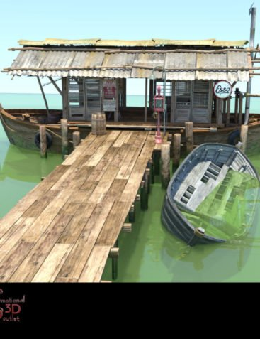 MS17 Swamp Boat for DAZ