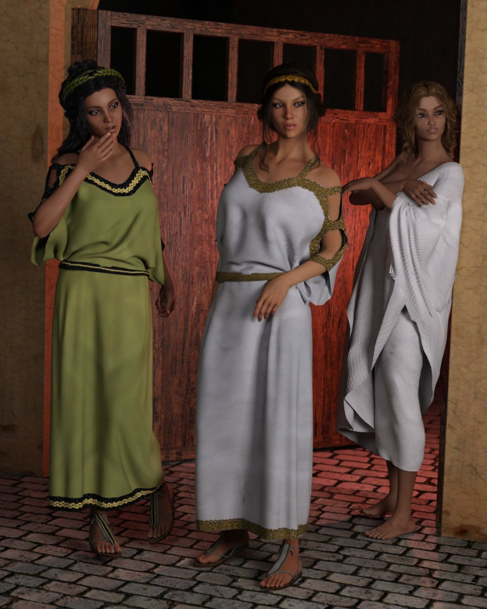 dForce Chiton and Toga for Genesis 3 Female and Genesis 8 Female