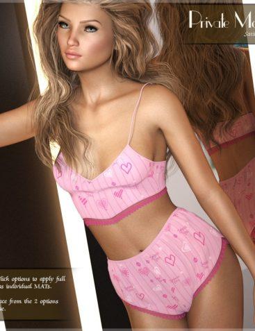 Private Moments: Satin Pyjamas - G8F
