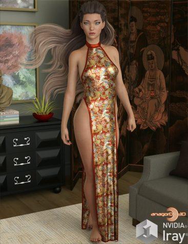 VERSUS – dForce Sexy Loin Dress for Genesis 8 Females
