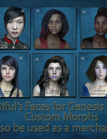 Beautiful faces for G8 pack