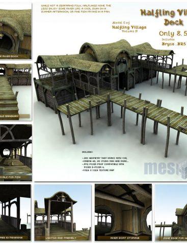 Halfling Village Dock (H1V205-3DS)