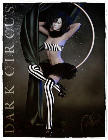 dForce Dark Circus Outfit for Genesis 8 Female(s)