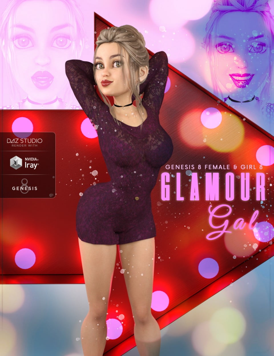 Z Glamour Gal - Poses and Expressions for The Girl 8 and Genesis 8 Female - poses, daz-poser-carrara
