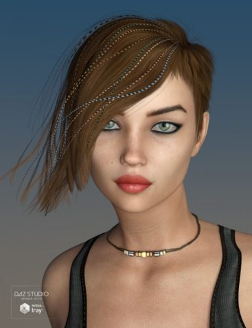 Danny Hair for Genesis 3 and 8 Female(s)
