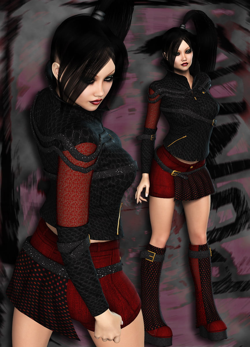NYC Couture: Punky Pop by RPublishing - clothing, daz-poser-carrara