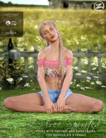 Z Free Spirited - Poses with Partials and Expressions for Genesis 3 & 8 Female