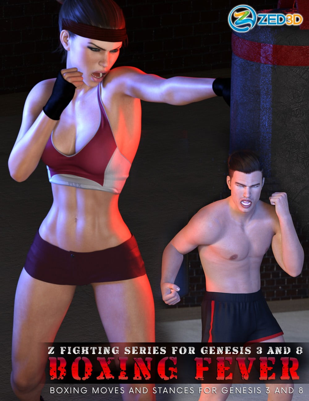 Z Fighting Series: Boxing Fever – Poses and Partials for Genesis 3 and 8