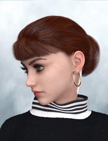 Elegant Bun Hair for Genesis 8 and Genesis 3 Female(s)