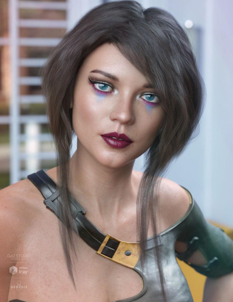 Ellisea Hair for Genesis 3 & 8 Female(s)