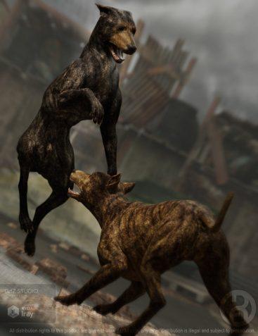 Wild Dog Poses for Daz Dog 8