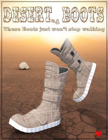 Desert Boots for Genesis 8 Male(s)