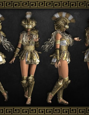 Divinity - Athena Outfit for Genesis 8 Females
