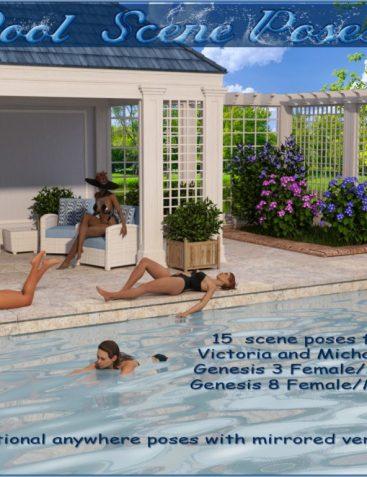 Pool Scene Poses – V4,M4-G3 and G8