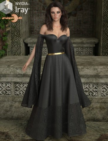VERSUS - dForce July Gown for Genesis 8 Females