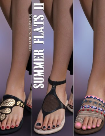 Summer Flats II for Genesis 8 Females