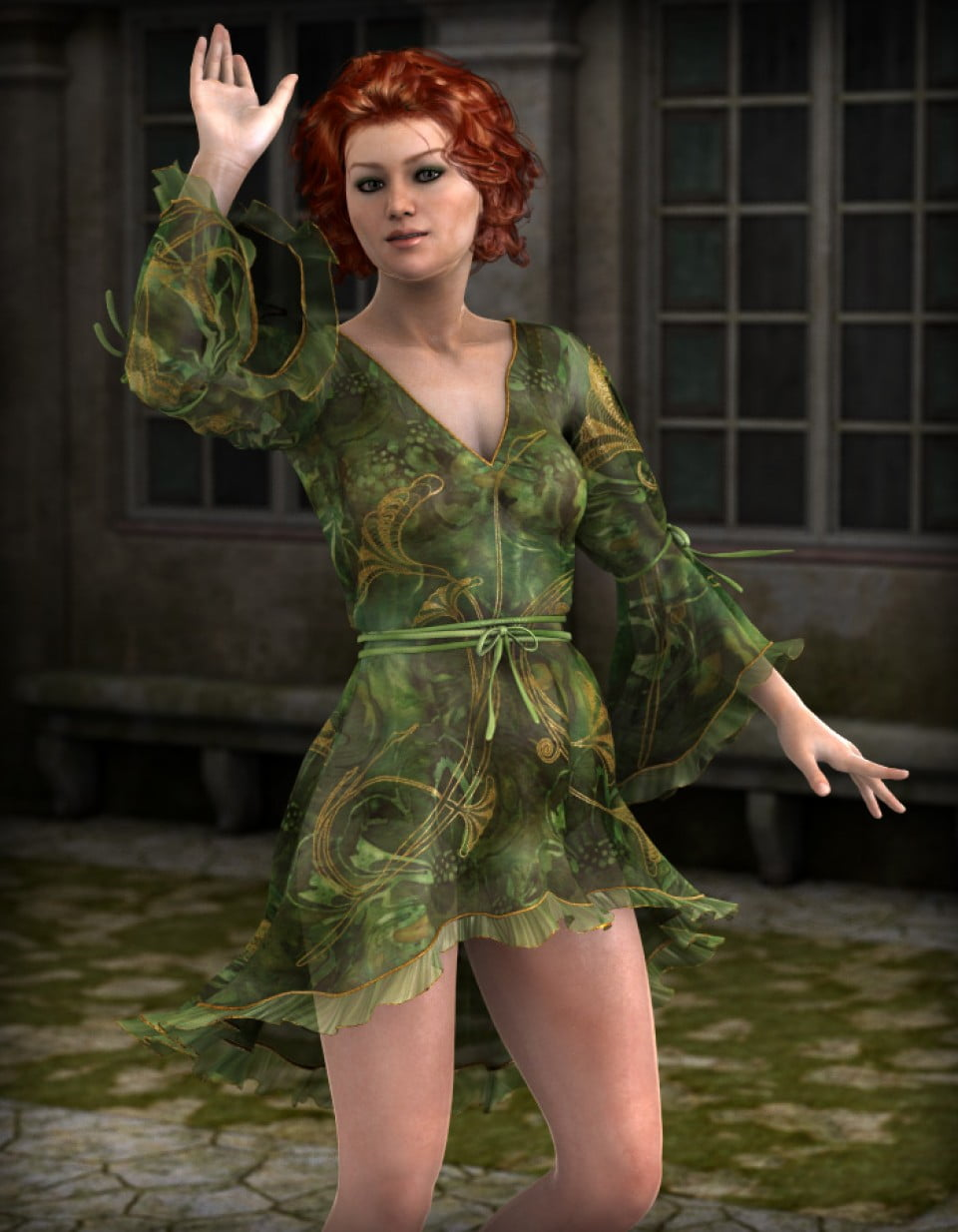 Florinda Fashion in People and Wearables, Clothing and Accessories, Everyday,  3D Models by Daz 3D