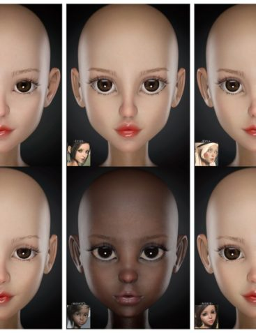 RareStone's Face Morph Collection for The Girl 8